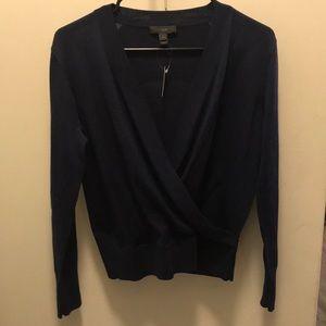 Jcrew merino wool wrap sweater